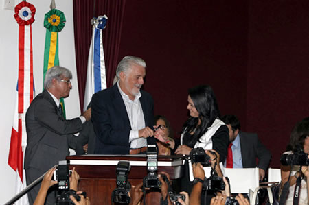 Posse de  Moema Gramacho. (Foto: Manu Dias)