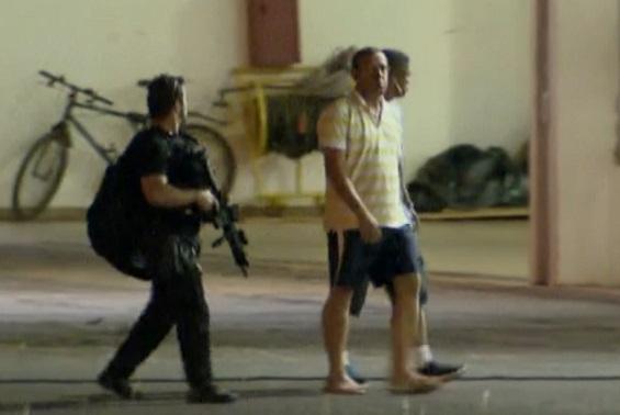 Polícia Federal prendeu Marco Prisco em Salvador, e o transferiu para Brasília. Imagem da Rede Globo.