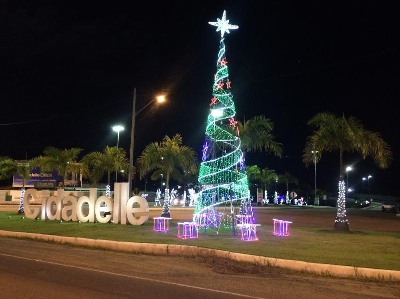 Decoração natalina do Cidadelle House.