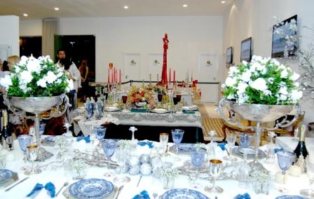 Uma visão das mesas natalinas. Foto: Clodoaldo Ribeiro.