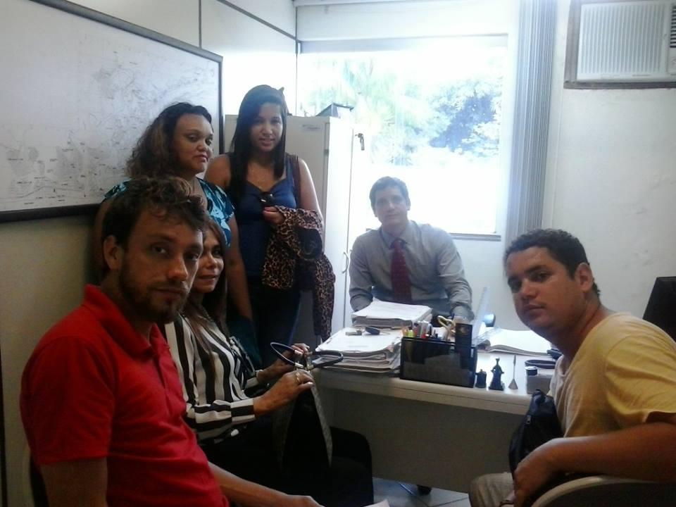 Integrantes do movimento se reuniram com o promotor Paulo Eduardo.