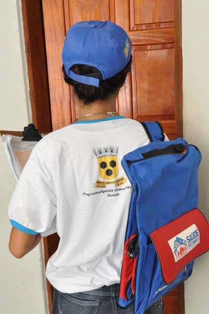 Agentes comunitários farão visitas domiciliares. Foto: Pedro Augusto.
