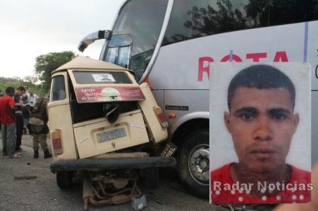 Gilvan morreu no local. Foto: Radar Notícias.