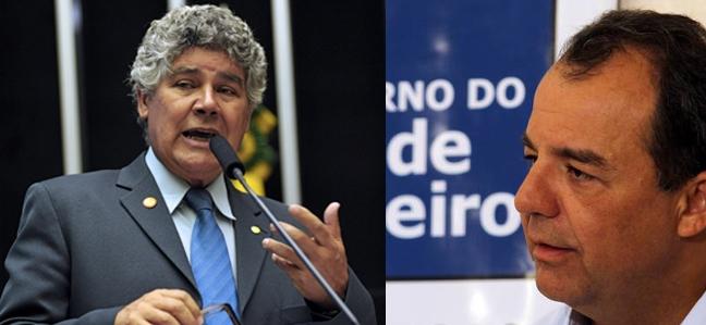 Chico Alencar e Sérgio Cabral.