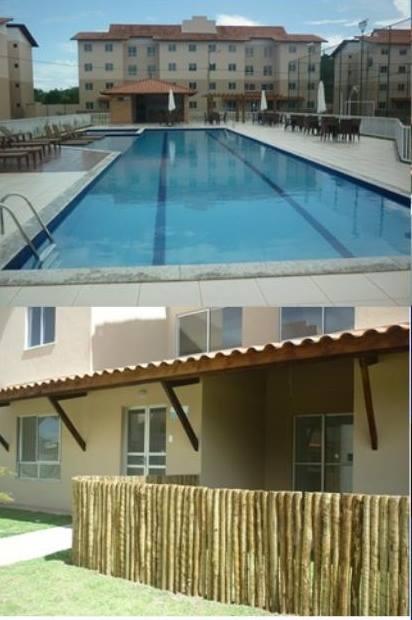 O condomínio tem piscina e quadra de esportes. O futuro inquilino terá direito a uma vaga no estacionamento.