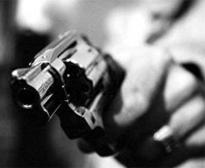 arma preto e branco