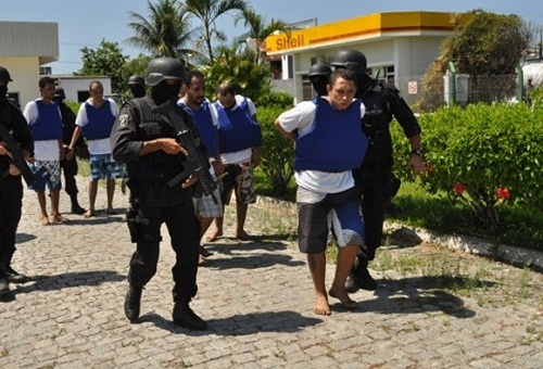 Bandidos foram transferidos. Foto: Jorge Cordeiro.