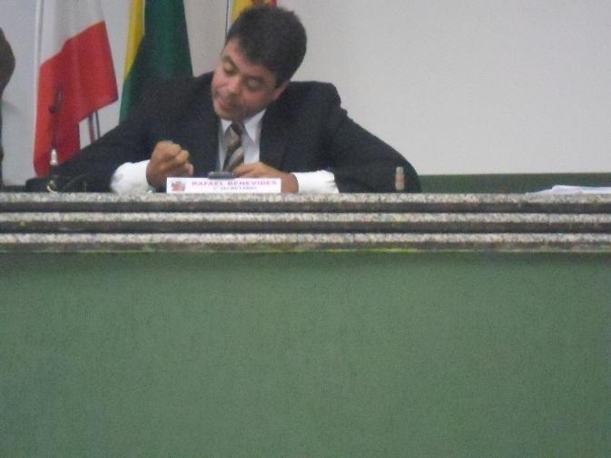 Vereador Rafael Benevides. Foto: Thiago Dias/Blog do Gusmão.